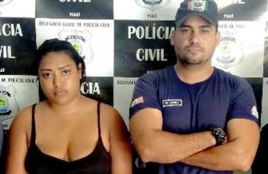 Mulher é presa após ser flagrada furtando produtos alimentícios em empresa comercial no centro de José de Freitas