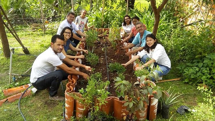 IFPI Campus de José de Freitas inicia implantação de hortas medicinais em Unidades Básicas de Saúde