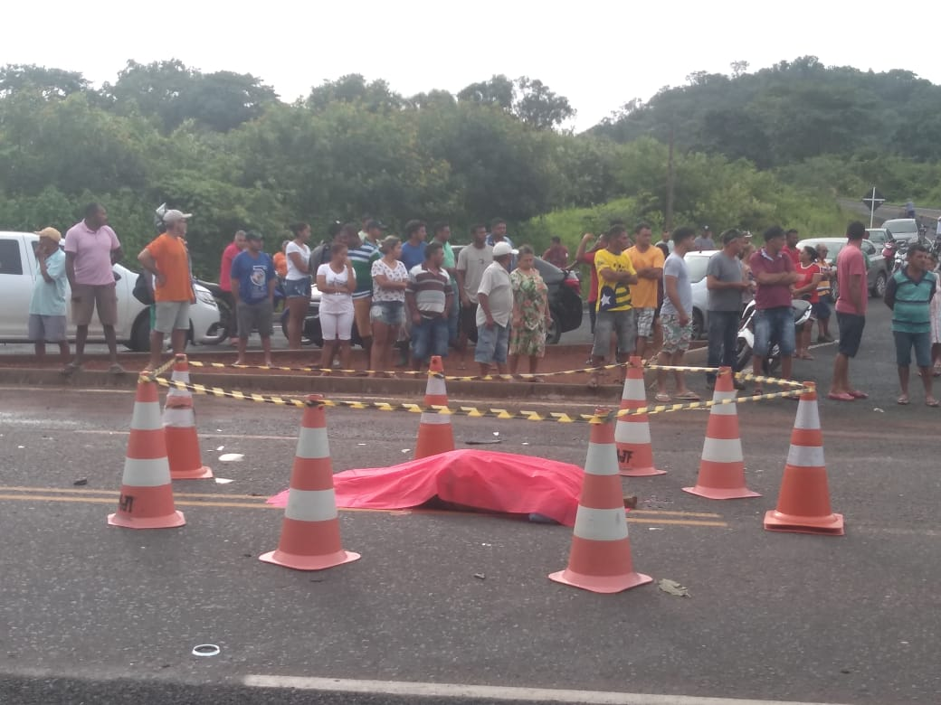 Idoso morre em José de Freitas após sofrer grave acidente na PI-113