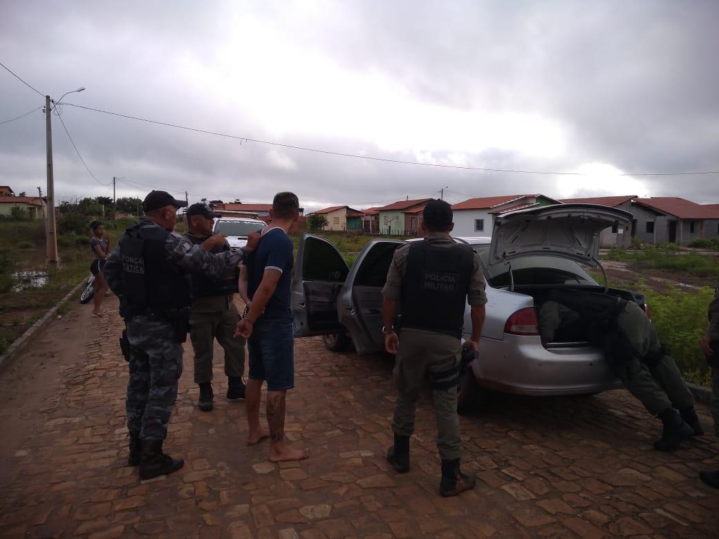Polícia Militar prende quadrilha que trocou tiros durante perseguição em José de Freitas