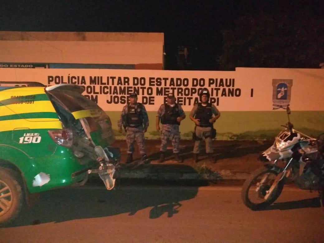 Dupla armada abandonam motocicleta tomada de assalto em José de Freitas