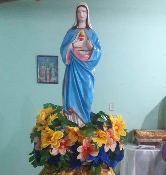 Comunidade Carvalho está comemorando Sagrado Coração de Maria em José de Freitas