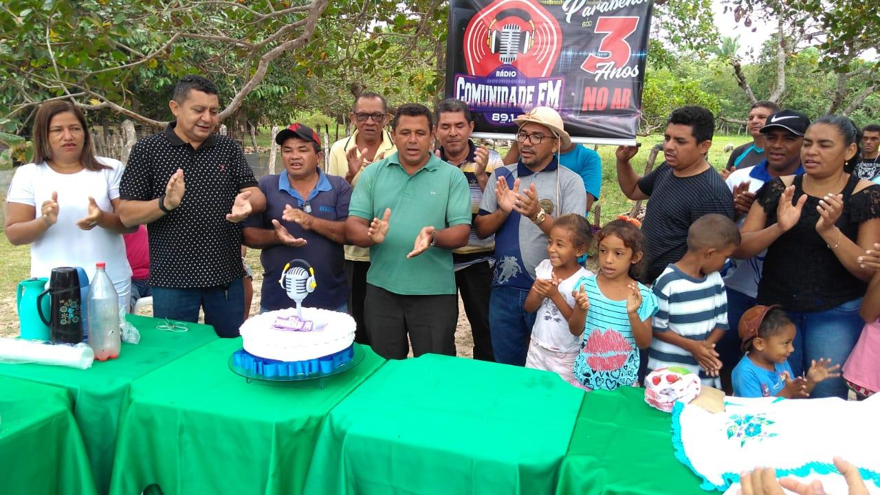 Rádio Comunitária Comunidade Fm comemora 3 anos de fundação em José de Freitas