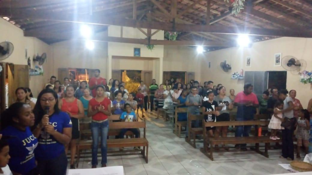 Fiéis do Bairro Marmelada em José de Freitas festeja o Sagrado Coração de Maria