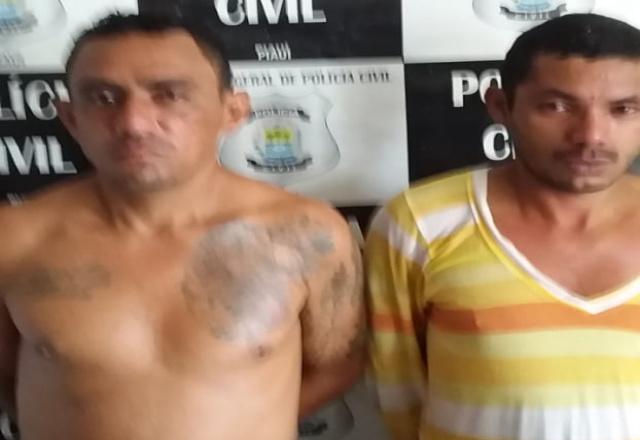 Homens são presos pela Polícia Civil com apoio da Guarda Municipal em José de Freitas
