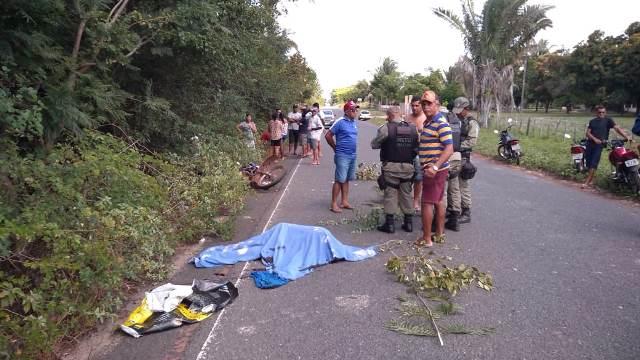 Homem morre após grave acidente entre carreta e moto na PI-113 em José de Freitas