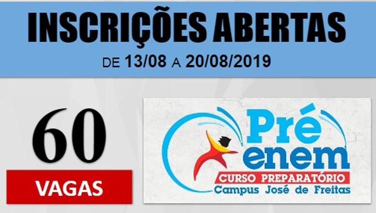 IFPI Campus Avançado de José de Freitas oferta vagas para Pré-Enem