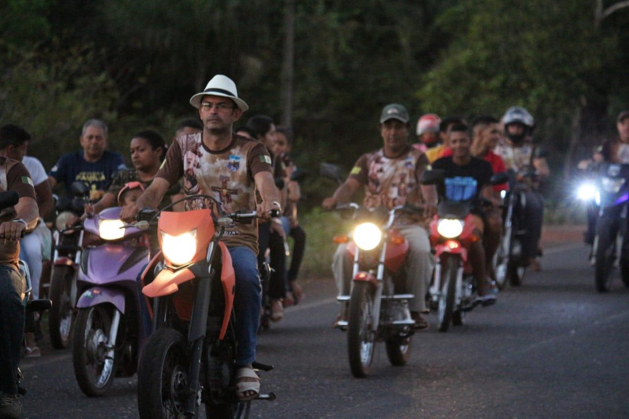 Motoqueiros, Motoristas, Carroceiros e Ciclistas participam de carreata com a imagem de Nossa Senhora do Livramento em José de Freitas