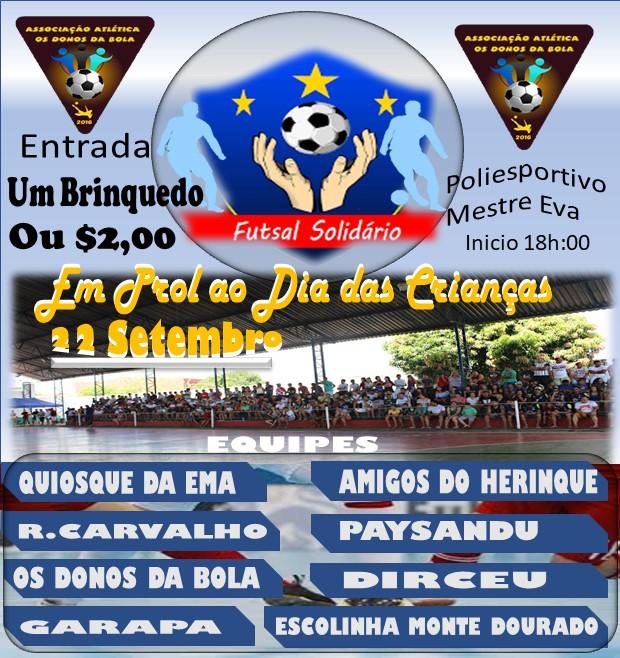 Associação Atlética Os Donos da Bola vão promover Jogo Solidário em prol das crianças de José de Freitas