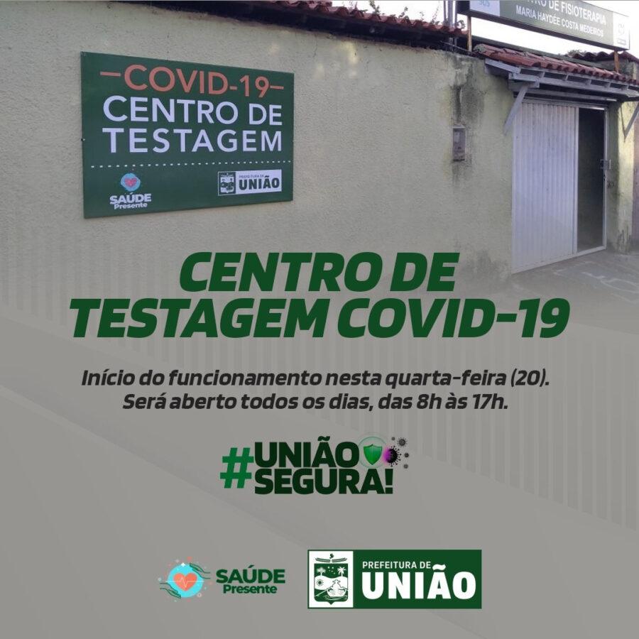 Começa a funcionar o Centro de Testagem para COVID-19 em União