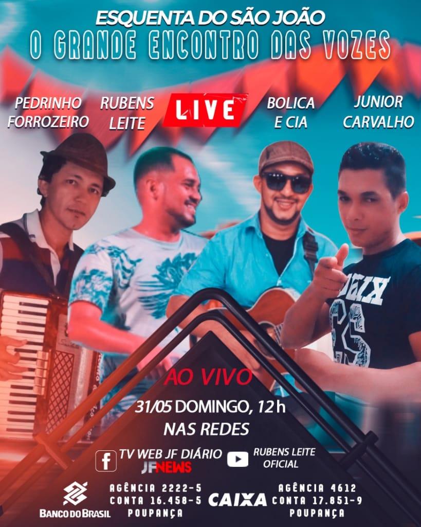 Live o grande encontro das vozes acontece dia 31 de maio em José de Freitas