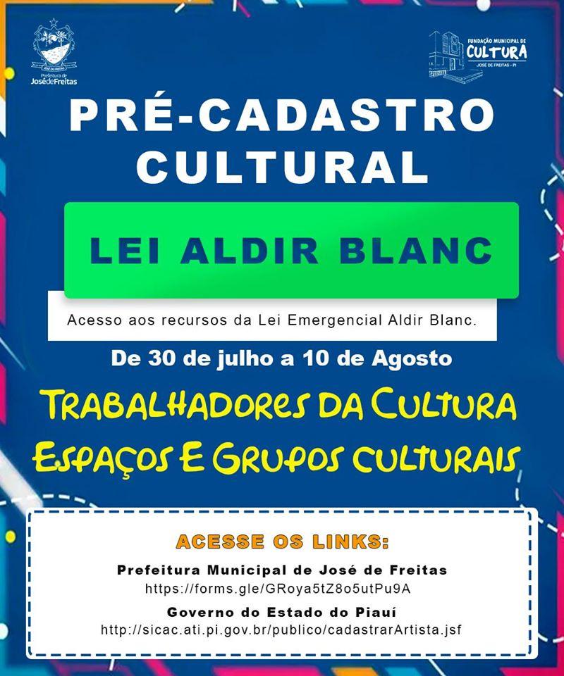 Prefeitura de José de Freitas disponibiliza pré-cadastro para Auxílio Emergencial da Cultura do Municipio